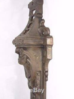 08D50 ANCIENNE PAIRE DE MONTANTS CHEMINÉE ARCHITECTURE FIN XIXe STYLE LOUIS XVI
