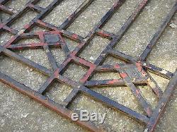 100 X 60 cm Ancienne grille de porte art déco en fonte