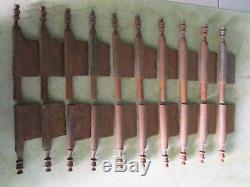 10 fiches à larder fer forgé turlupée Louis XIV ancien hauteur 33 cm portes