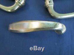 10 poignées béquille ancienne laiton porte communication pour carré de 7 mm