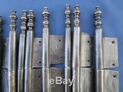 12 fiches à larder fer turlupée Louis XV ancien Hauteur 26 à 27 cm porte meuble