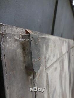 150,5 X 135 cm Paire d'anciennes portes de placards à miroirs XIXème