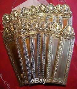 16 anciennes plaques proprete laiton deco porte ancienne serrure empire