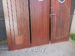 188 X 210,5 cm (L) Ensemble de 3 anciennes portes de garage
