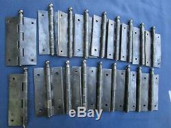 18 charnières goupilles fer ancienne hauteur 11,4 cm portes volets placard
