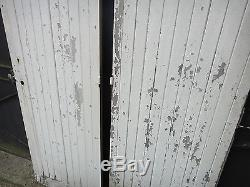 193,5 X 115 cm Paire d'anciennes portes pour atelier, autre, en chêne