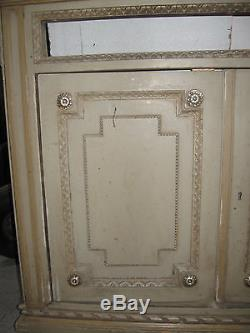 1 Facade Devanture Ancienne En Bois Peint Avec 2 Portes-style Louis Xvi-n°87
