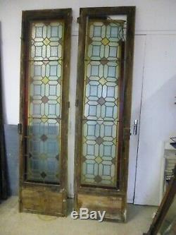 1 Paire De Porte Ancienne Avec Vitraux