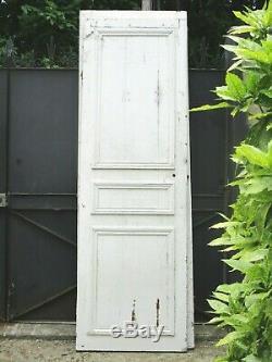 219 X 69,5 cm Ancienne porte en chêne massif