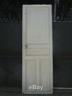227 X 77 cm Ancienne porte intérieure moulurée