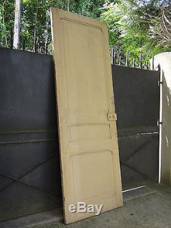 238 X 83 cm Ancienne grande porte intérieure en bois