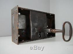 2,5kg Ancienne Grosse Serrure Signée et sa Clé, XIX, Robuste, Fonctionne, Lock Door