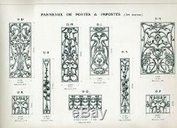 2 GRILLES FONTE DE PORTE D'ENTREE Art nouveau. SUPERBES