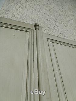 2 Grandes Paires de Portes Anciennes en bois début XIXème 258x123cm