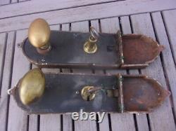 2 SUPERBES SERRURE DE CHATEAU ANCIENNE cerclée bronze, french castle lock