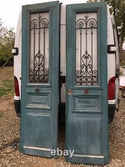 2 anciennes portes de maison bois et fer forgé antique doors