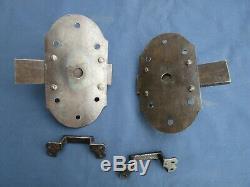 2 grosses targettes verrous fer ancienne porte hauteur 17 x 9,5 cm large