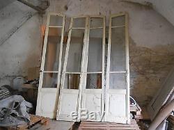 2 paires de portes vitrées de château fin 18 ème