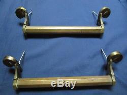 2 poignées longueur 28,5 cm laiton porte d'entrée double ancienne