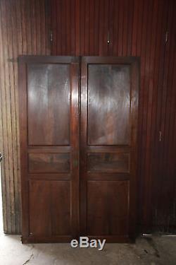 2 portes en bois massif Portes de placard encastré Portes en chêne Anciennes