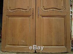 2 portes placard chantourné Louis XV chêne ancienne décoration lg 149 ht 180 cm