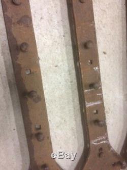 3 Anciennes énorme pentures ferrures, en fer forgé 18/19ème 1,59 m