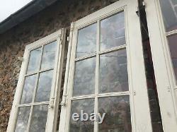 3 anciennes grandes portes vitrées pour maison demeure ancienne