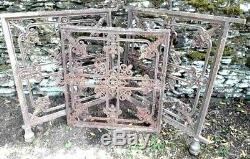 3 anciennes grilles de chapelle 19éme