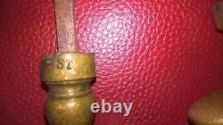 3 paire ancienne poignée porte bronze objet ancien déco maison serrure