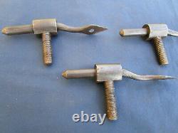 3 pentures + 3 gonds ferrures fer forgé ouvragé ancienne porte