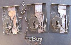 3 x serrure XVIIIe avec leur clé