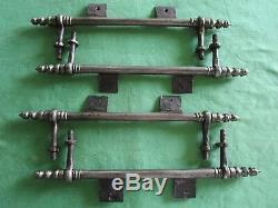 4 fiches à lacets fer forgé turlupée Louis XVI ancien haut 33,5 à 34,7 cm portes