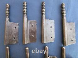 4 fiches à larder fer forgé turlupée Louis XIV ancien haut 30,6 à 31 cm portes