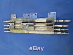 4 longues fiches à larder déportées laiton & fer ancienne hauteur 40 cm porte