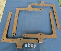 4 pentures déquerres ferrures fer forgé ouvragé ancienne porte double placard