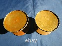 4 poignées rondes laiton porte verre magasin vitrine ancienne diamètre 13,4 cm