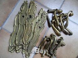 5 Paires de Plaques de Propreté laiton avec poignées