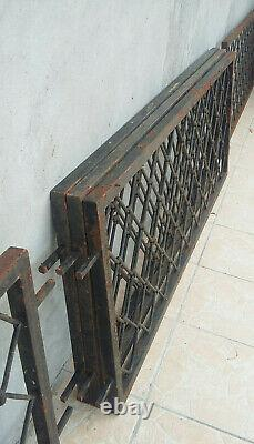 5 grilles, rambardes, barrières en fer forgé XIXe