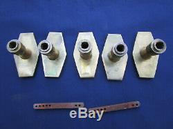 5 poignées ancienne laiton décor Empire porte de communication carré de 7