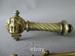5 poignées de porte et 5 plaques de propreté bronze réservé à natachat123