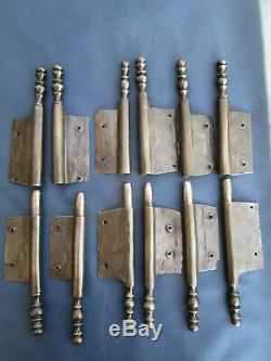 6 fiches à larder fer forgé turlupée Louis XIV ancien haut 30 à 31 cm portes
