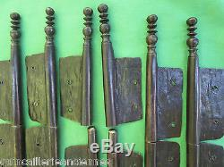 6 fiches à larder fer forgé turlupée Louis XIV ancien haut 31,5 à 32,5 cm portes