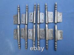6 fiches à larder fer forgé turlupée Louis XVI ancien haut 26,5 à 27,2 cm portes
