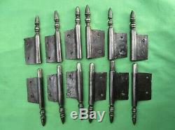 6 fiches à larder fer forgé turlupée Louis XVI ancien hauteur 23,5 cm portes