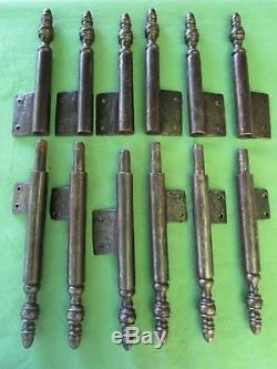 6 grosses fiches à larder complètes fer forgé ancienne Louis XIV hauteur 40 cm
