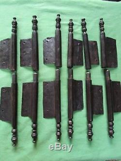 6 grosses fiches à larder complètes fer forgé ancienne Louis XV ht 37,5 à 39 cm