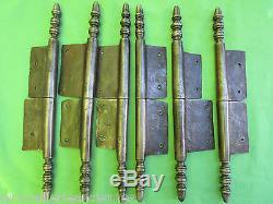 6 grosses fiches à larder fer forgé ancienne modèle Louis XVI haut 31,2 à 31,7cm