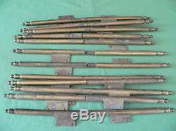 6 longues fiches à larder déportées laiton ancienne hauteur 50 à 51 cm portes