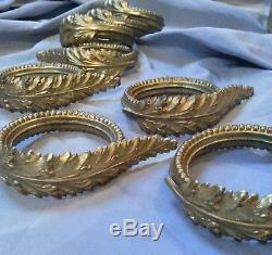 8 Anciennes Embrasses A Rideau Empire Nap III Metal Dore