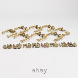8 Poignees Porte Alvar Aalto Vintage Door Handles Brass Hinges Charniere